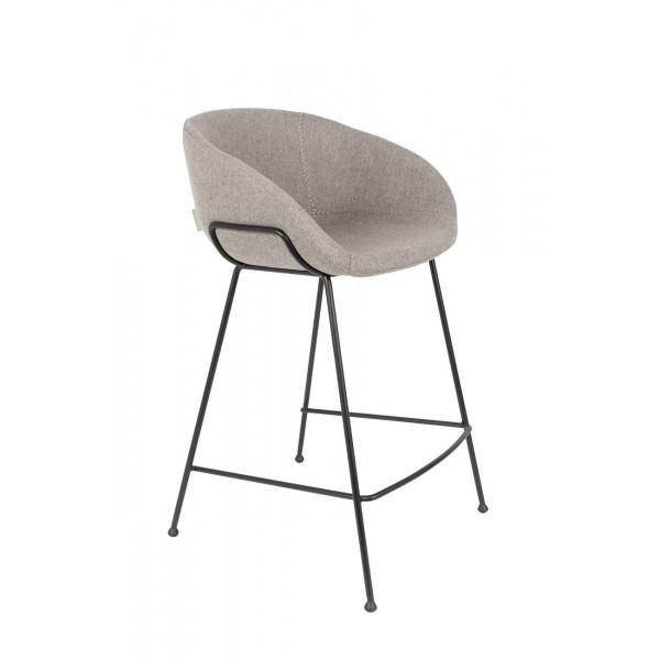 FESTON - Chaise de bar grise
