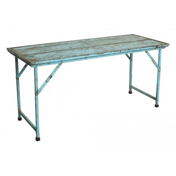 Blue Folding vintage console table