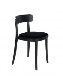 BRANDON - Chaise de repas noir