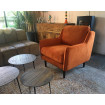 Soft - fauteuil confortable velours orange