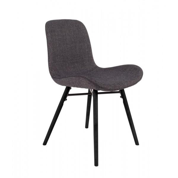 CURVE - Chaise de repas tissu gris foncé