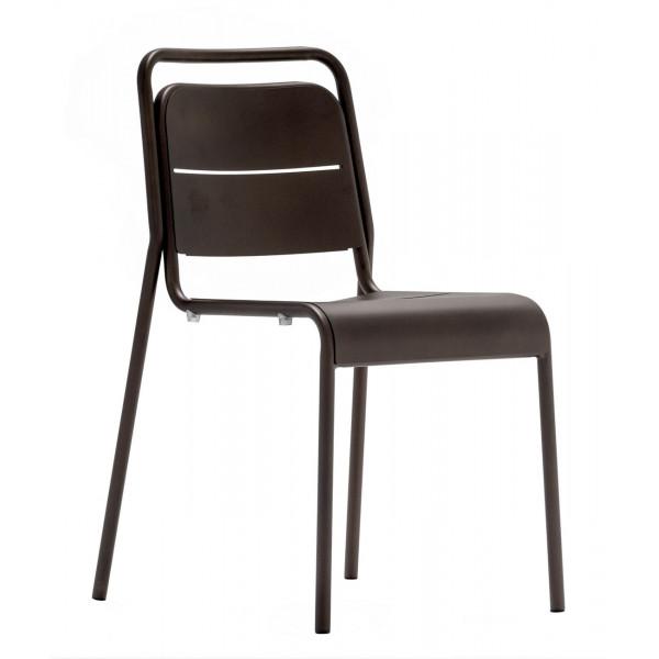 MALAGA - Chaise de terrasse bronze
