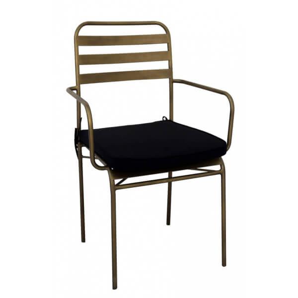 Chaise métal bronze
