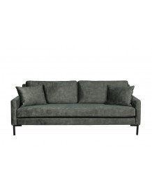 HOUDA - 3 seat grey sofa