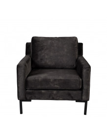 HOUDA - fauteuil gris Anthracite
