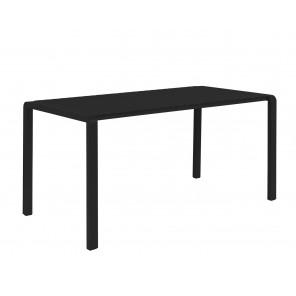VONDEL - Table de jardin noire aluminium zuiver