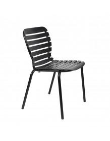 VONDEL - Chaise de jardin noire