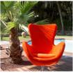 Cocoon orange en velours moiré