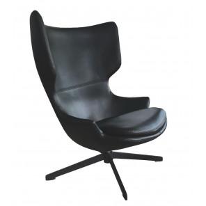 TORINI - Black swivel design armchair