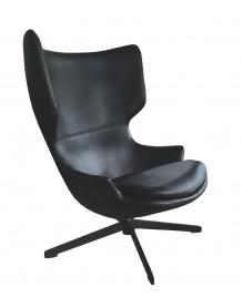 TORINI - Fauteuil design rotatif noir