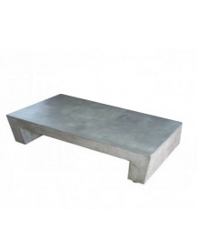 U rectangular concrete coffee table