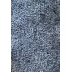 SPACE - Contemporary armchair in blue/grey velvet