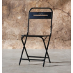 Black Folding Steel chair