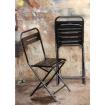 Chaise vintage métal noir
