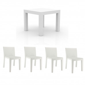 JUT - Set Dining table and 4 chairs