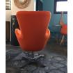 Orange armchair Coocoon-back