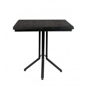 ZEMA - Table Bistrot noire 75
