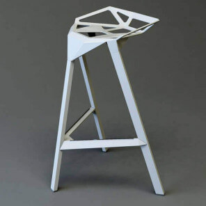 STOOL ONE 67 - Modern aluminum stool