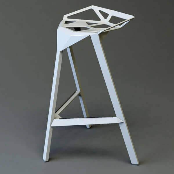 STOOL ONE 67 - Modern aluminum stool
