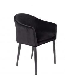 Black velvet dining armchair Cosy