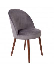 Grey Velvet dining chair Barbara