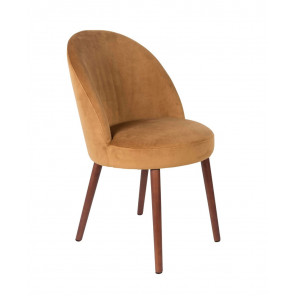 Camel Velvet dining chair Barbara