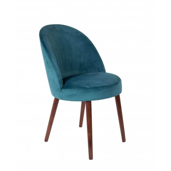 Chaise de repas Barbara-bleu