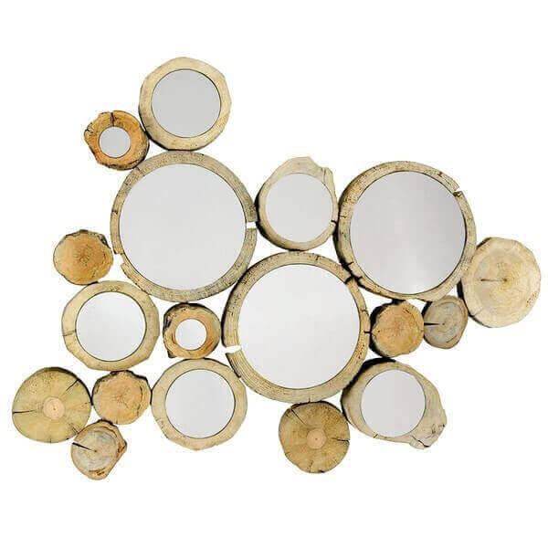 Miroir Circle bois flotté