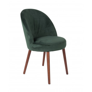 Green Velvet dining chair Barbara by Dutchbone