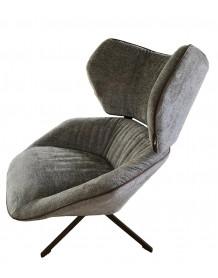 CARLTON - Modern armchair in velvet