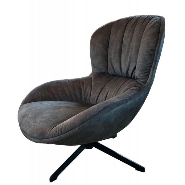 TESSANO - Fauteuil confortable en tissu Alicante gris