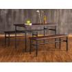 Table repas bois massif et acier
