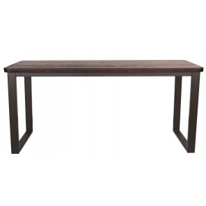 Dining table 180 cm dark wooden top