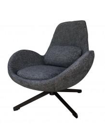 Fauteuil design Space gris