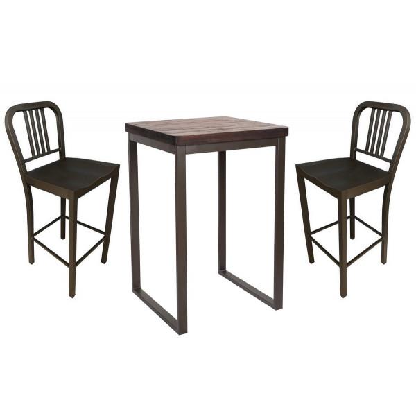 Ensemble haut table tabouret bar industriel