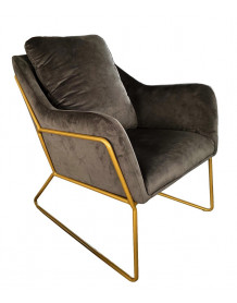 Fauteuil Golden gris taupe
