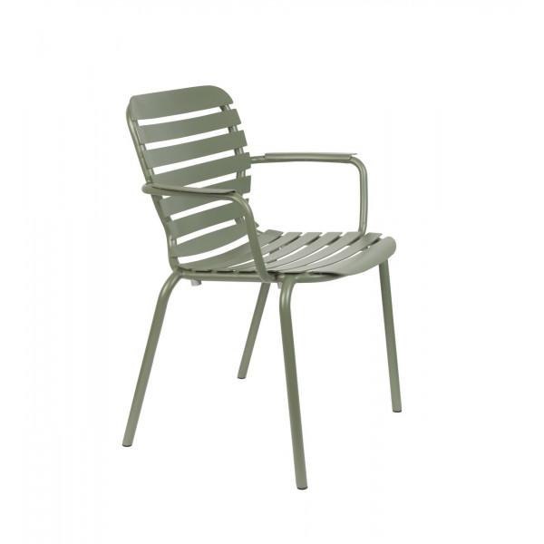 VONDEL - Chaise de jardin Accoudoirs vert