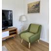 FLORIDE - Green arm chair
