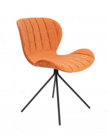 Orange velvet design dining chair