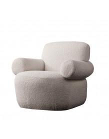 TEDDY - White Arm Chair