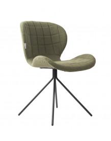 Chaise design OMG tissu vert