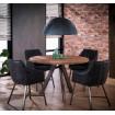 LIZA - Table ronde en bois acier 120