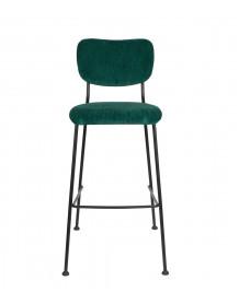 BENSON - Green Velvet bar stool Zuiver