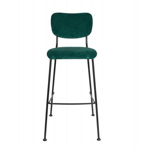 BENSON - Chaise de Bar Zuiver velours vert