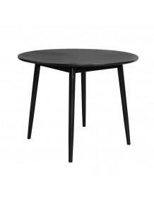 FAB - Table de repas finition bois noir