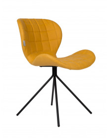 Yellow design chair by Zuiver