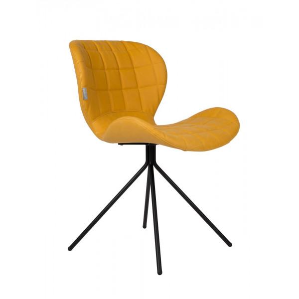 Chaise design OMG simili jaune
