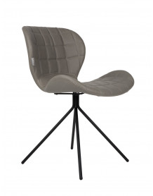 Grey Omg dining chair by Zuiver