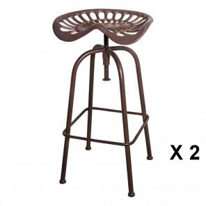 TRACTEUR - Industrial swivel bar stool