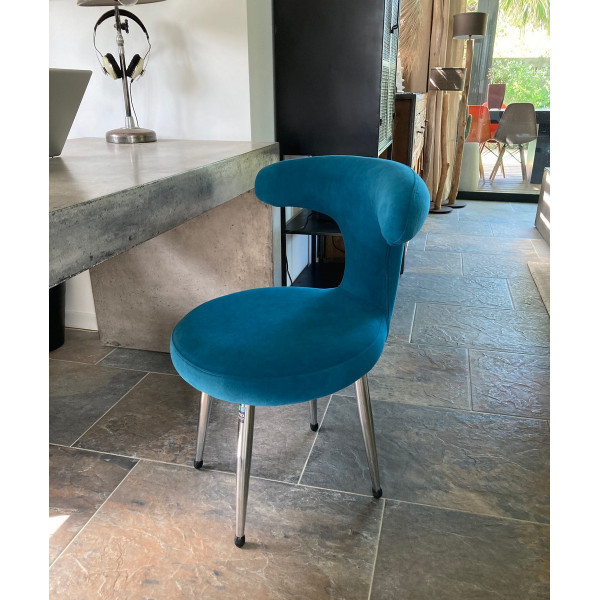 Chaise Fifties bleue